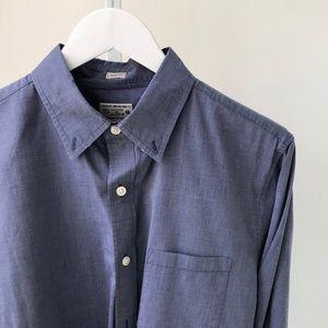 J Crew Mens Blue Long Sleeve Button Down Shirt M